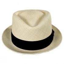 Diamond Panama Straw Fedora Hat alternate view 2