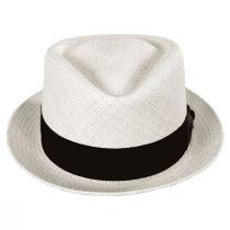 Diamond Panama Straw Fedora Hat alternate view 14