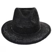 Messer Crochet Raffia Straw Fedora Hat alternate view 2