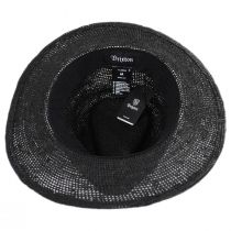 Messer Crochet Raffia Straw Fedora Hat in
