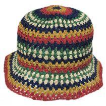 Essex Crochet Raffia Straw Bucket Hat in