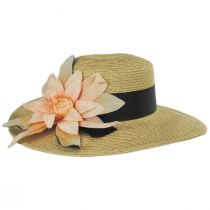 Water Lily Toyo Straw Boater Hat alternate view 3
