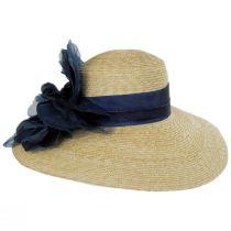 Silk Rose Raffia Straw Lampshade Hat alternate view 3