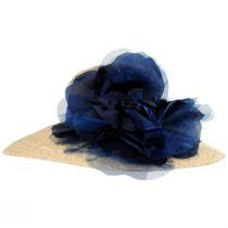 Silk Rose Raffia Straw Lampshade Hat alternate view 4