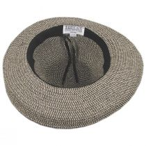 Crinkle Rose Toyo Straw Roller Hat in