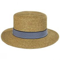 Packable Toyo Straw Boater Hat alternate view 2