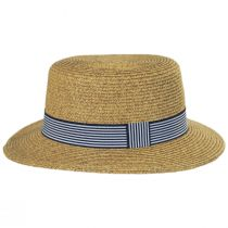 Packable Toyo Straw Boater Hat alternate view 3