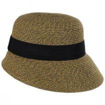Asymmetrical Brim Toyo Straw Cloche Hat in