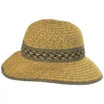 Mayan Toyo Straw Cloche Hat in