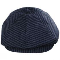 Brood Stripe Cotton Blend Newsboy Cap in
