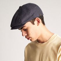 Brood Stripe Cotton Blend Newsboy Cap in