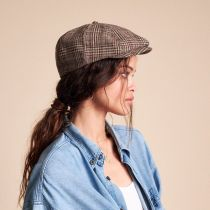 Brood Plaid Wool Blend Newsboy Cap in