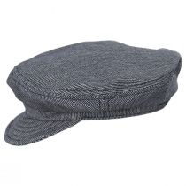 Striped Cotton Blend Unstructured Fiddler Cap alternate view 3