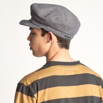 Striped Cotton Blend Unstructured Fiddler Cap alternate view 5