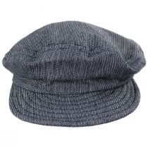 Striped Cotton Blend Unstructured Fiddler Cap alternate view 14