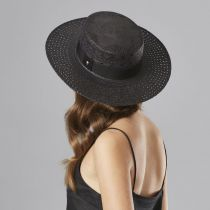Cora Panama Straw Boater Hat in