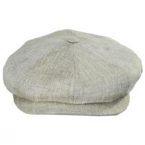 Mini Herringbone Linen Newsboy Cap in