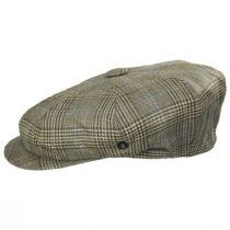 Overcheck Plaid Wool and Linen Newsboy Cap alternate view 3
