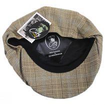 Overcheck Plaid Wool and Linen Newsboy Cap alternate view 4