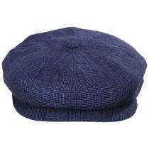 Plaid Linen Newsboy Cap in