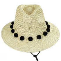Layover Palm Straw Fedora Hat alternate view 2