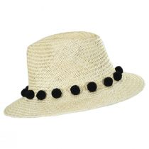 Layover Palm Straw Fedora Hat alternate view 3