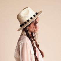 Layover Palm Straw Fedora Hat alternate view 12