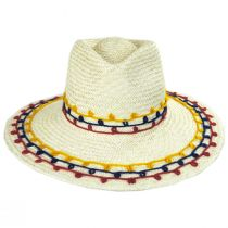 Joanna Embroidered Palm Straw Fedora Hat alternate view 2