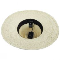 Joanna Embroidered Palm Straw Fedora Hat alternate view 4