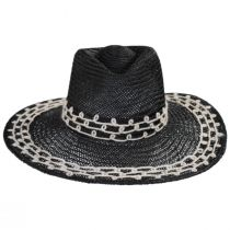 Joanna Embroidered Palm Straw Fedora Hat alternate view 8