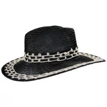 Joanna Embroidered Palm Straw Fedora Hat alternate view 9