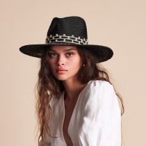 Joanna Embroidered Palm Straw Fedora Hat alternate view 11