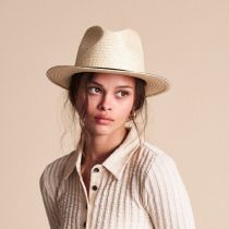 Lera II Palm Straw Fedora Hat in