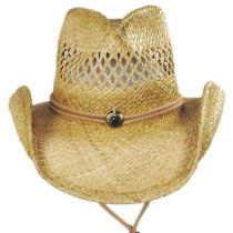 Hudson Raffia Straw Vent Western Hat alternate view 6
