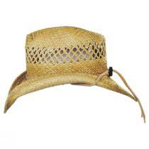 Hudson Raffia Straw Vent Western Hat alternate view 7