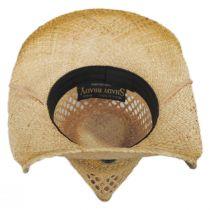 Hudson Raffia Straw Vent Western Hat alternate view 8