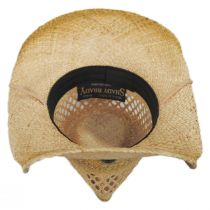 Hudson Raffia Straw Vent Western Hat alternate view 12