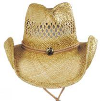 Hudson Raffia Straw Vent Western Hat alternate view 14