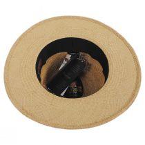 Ricardo Crochet Panama Straw Fedora Hat in