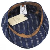 Striped Linen Blend Ivy Cap in