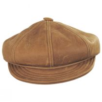 Vintage Spitfire Leather Newsboy Cap in