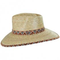 Joanna Palm Straw Fedora Hat in