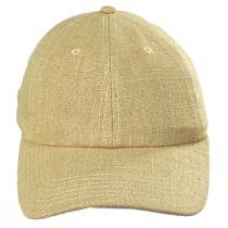 Winder Linen/Cotton Strapback Baseball Cap in
