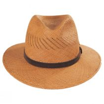 Piero Grade 3 Panama Straw Fedora Hat alternate view 2