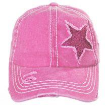 High Ponytail Glitter Star Adjustable Baseball Cap alternate view 3