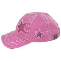High Ponytail Glitter Star Adjustable Baseball Cap alternate view 4