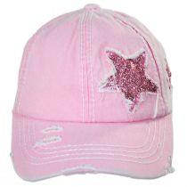High Ponytail Glitter Star Adjustable Baseball Cap alternate view 11