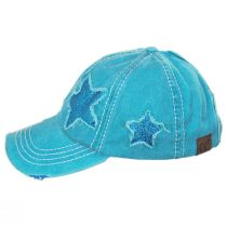 High Ponytail Glitter Star Adjustable Baseball Cap alternate view 8