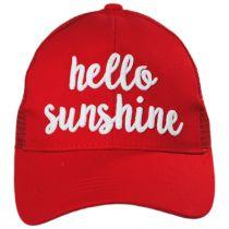 High Ponytail Hello Sunshine Mesh Adjustable Baseball Cap in
