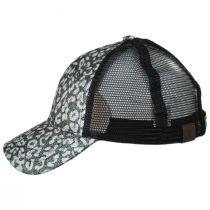 High Ponytail Glitter Leopard Mesh Adjustable Baseball Cap alternate view 3